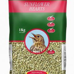 J&J Sunflower Hearts 1kg