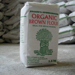 Organic brown flour