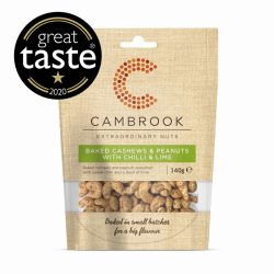 Baked Cashews & Peanuts Chill & Lime 140g