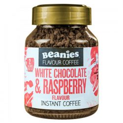 Beanies White Choc  Rasp Coffee