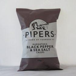Pipers Crisps Black Pepper 150g