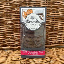 Bramble Dark Choc Chip Orange Biscuits