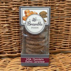 Bramble Milk Choc Salted Caramel Biscuits