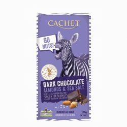 Cachet Dark Choc Almonds Bar 180g