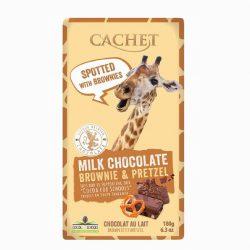Cachet Milk Choc Brownie Pretzel Bar 180g