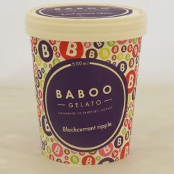 Baboo Gelato Blackcurrant Ripple  500ml