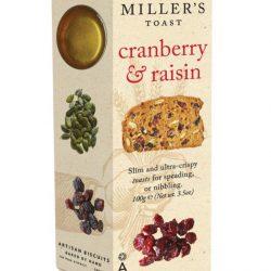 Millers Toast Cranberry & Raisin